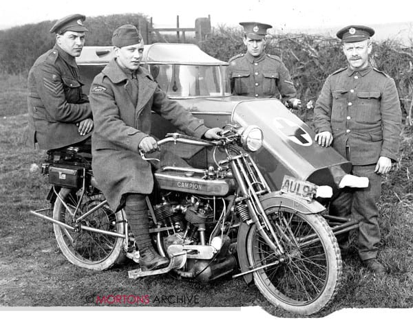 First World War - A Campion sidecar ambulance, in April 1918.